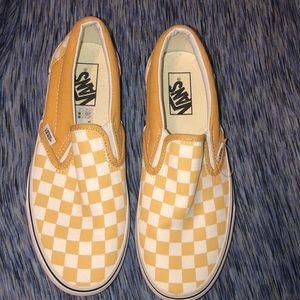 Yellow checkered vans